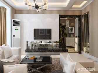 110平米三室两厅现代简约风格客厅背景墙装修图片大全