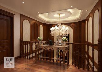140平米三室一厅美式风格楼梯装修效果图
