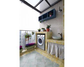 100平米三室一厅田园风格阳台图片