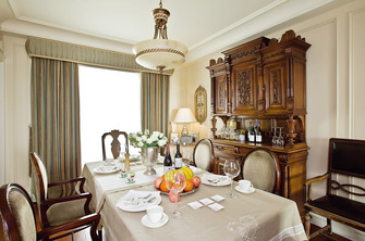 80平米三室三厅美式风格餐厅装修效果图