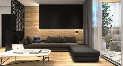 80平米一居室现代简约风格客厅欣赏图