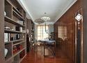 140平米三室四厅中式风格书房图片
