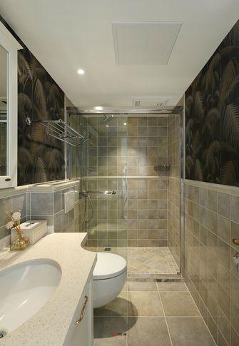 富裕型80平米三室两厅现代简约风格卫生间浴室柜装修效果图