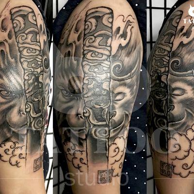 大臂遮盖作品纹身款式图