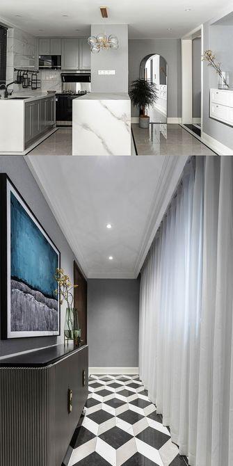 120平米三室一厅美式风格客厅设计图