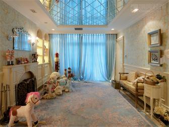 富裕型140平米别墅欧式风格楼梯装修案例