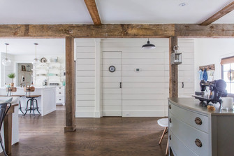 130平米三室两厅田园风格走廊效果图