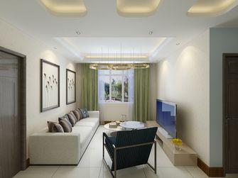 80平米现代简约风格客厅沙发装修图片大全