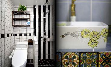 120平米三室一厅混搭风格卫生间浴室柜设计图