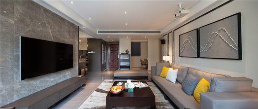 90平米三室一厅混搭风格客厅装修图片大全