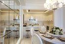 110平米三室两厅现代简约风格餐厅橱柜欣赏图