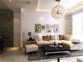 90平米现代简约风格客厅沙发装修效果图