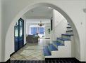 豪华型140平米四室两厅地中海风格楼梯装修图片大全