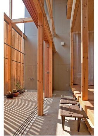 60平米一居室田园风格阳台装修效果图