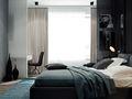 80平米北欧风格卧室背景墙装修图片大全