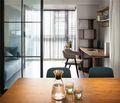 50平米一居室混搭风格阳台设计图