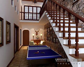 140平米三室两厅东南亚风格楼梯间图片大全