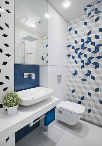 90平米三室两厅日式风格卫生间效果图