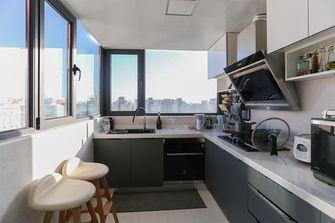 90平米三室一厅现代简约风格厨房效果图