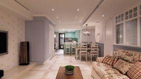 90平米三室兩廳地中海風格客廳裝修效果圖