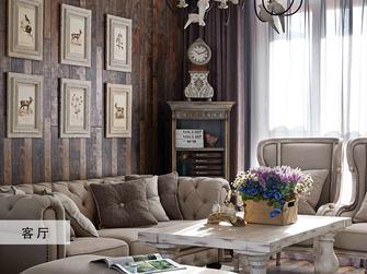 豪华型100平米三室一厅法式风格客厅效果图