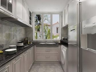140平米四室两厅田园风格厨房欣赏图