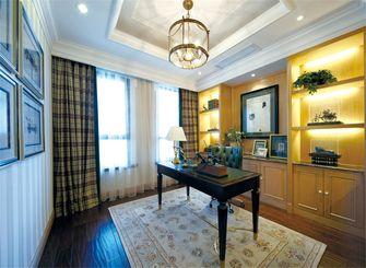 140平米三室两厅混搭风格书房背景墙欣赏图