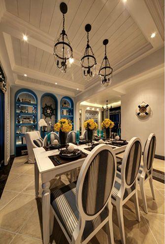 140平米三室两厅地中海风格餐厅欣赏图