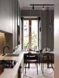 70平米一居室英伦风格厨房装修效果图