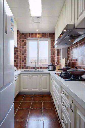 80平米三室一厅美式风格厨房欣赏图