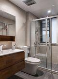 90平米三室两厅日式风格卫生间设计图