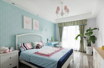 140平米三室一厅现代简约风格儿童房图