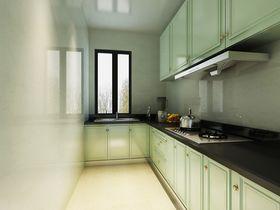 130平米三室两厅现代简约风格厨房设计图
