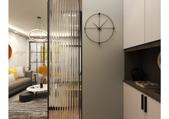 50平米公寓现代简约风格玄关设计图