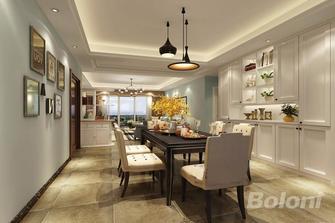 100平米三室一厅美式风格餐厅效果图