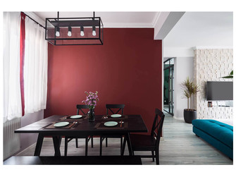 经济型110平米四室两厅英伦风格餐厅图