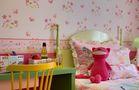 60平米田园风格儿童房装修案例