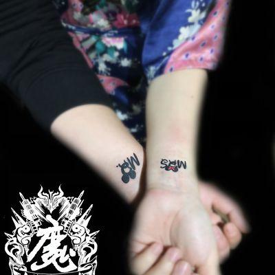 情侣纹身款式图