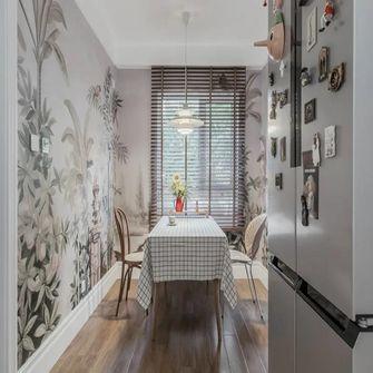 80平米公寓田园风格餐厅图片