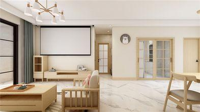90平米三室两厅日式风格客厅设计图