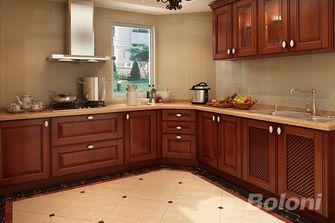 120平米三室两厅新古典风格厨房图