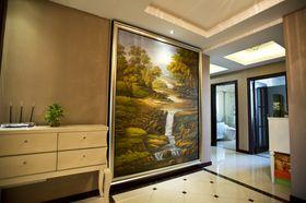 富裕型140平米三室兩廳歐式風格玄關設計圖