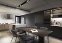 140平米三室三厅地中海风格餐厅设计图