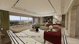 140平米四美式风格客厅图片