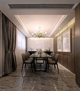 140平米别墅现代简约风格餐厅背景墙图片大全