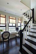 富裕型140平米三室两厅现代简约风格楼梯图