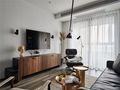 80平米三室五厅现代简约风格客厅效果图