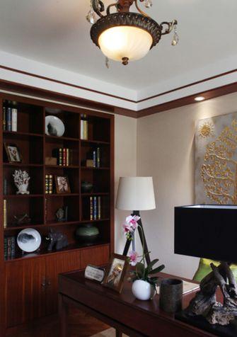 140平米四室一厅东南亚风格书房装修图片大全