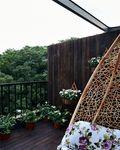 120平米三室一厅田园风格阳台图