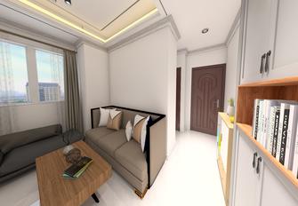 60平米三室一厅现代简约风格客厅装修效果图